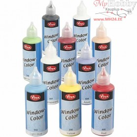 Viva Decor Window Color, asstd colours, 10x80ml
