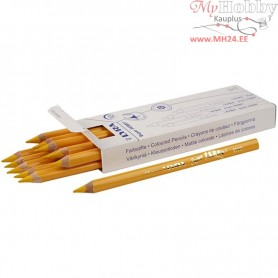 Super Ferby 1 colouring pencils, lead: 6,25 mm, L: 18 cm, yellow, 12pcs