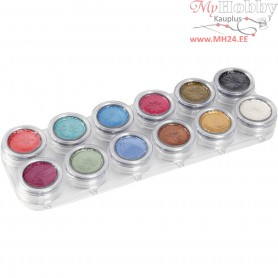 Water-based Face Paint Palette, mother of pearl colours, 12x2,5ml