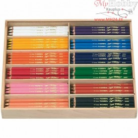Super Ferby 1 colouring pencils, lead: 6,25 mm, L: 18 cm, asstd colours, 144pcs