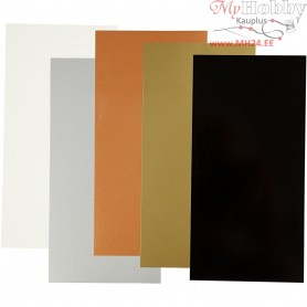 Color Dekor, sheet 10x20 cm, metallic colours, 5asstd. sheets
