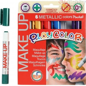 Playcolor Make Up, asstd. colours, metallic, 6x5g