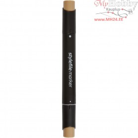 Stylefile Marker, line width: 1+2+7 mm, L: 15,3 cm, raw umber, 1pc