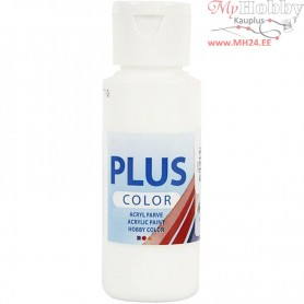 Plus Color Craft Paint, white, 60ml
