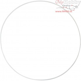 Metal Wire Ring, Circle, D: 30 cm, thickness 3 mm, 5pcs