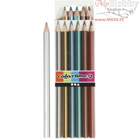 Colortime colouring pencils, lead: 4 mm, metallic colours, 6pcs