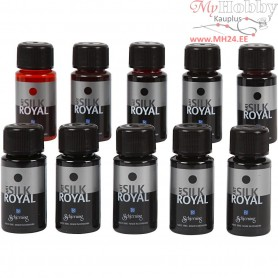 Silk Royal Paint, asstd colours, 10x50ml