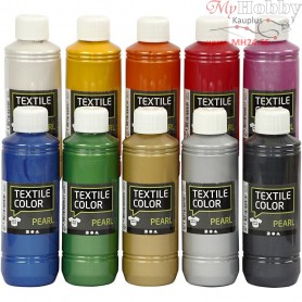 Textile Color Paint, pearl, 10x250ml