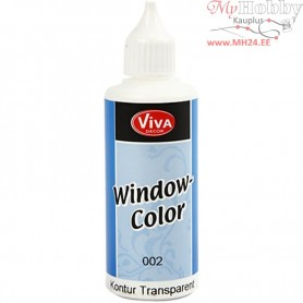 Viva Decor Window Color - Contour, transparent, 80ml