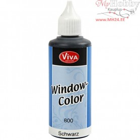 Viva Decor Window Color, black, 80ml