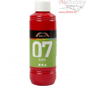 A-Color Glass Paint, red, 250ml