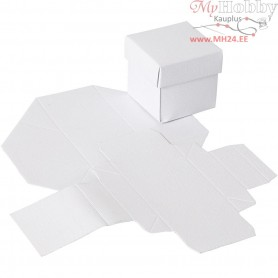 Folding box, size 5,5x5,5 cm,  250 g, white, 10pcs