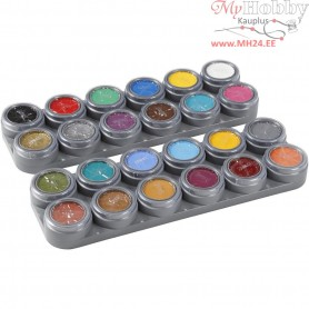 Water-based Face Paint Palette, asstd colours, 24 colors of 2,5 ml, 24x2,5ml