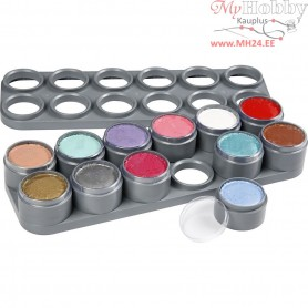 Water-based Face Paint Palette, asstd colours, princess colours, 12x15ml