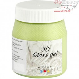 3D Glass Gel, light green, 250ml