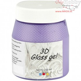 3D Glass Gel, purple, 250ml