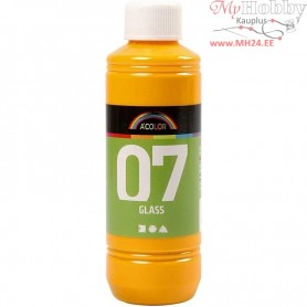 A-Color Glass Paint, yellow, 250ml