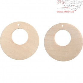 Disc, D: 40 mm, hole size 2 mm, china berry, 100pcs