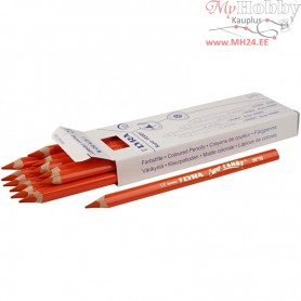 Super Ferby 1 colouring pencils, lead: 6,25 mm, L: 18 cm, orange, 12pcs