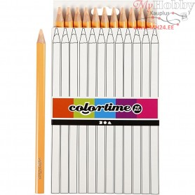 Colortime colouring pencils, lead: 5 mm, light skin colour, Jumbo, 12pcs