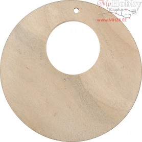 Disc, D: 50 mm, hole size 2 mm, china berry, 4pcs