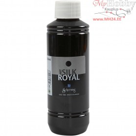 Silk Royal Paint, black, 250ml