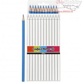 Colortime colouring pencils, lead: 3 mm, L: 17 cm, light blue, basic, 12pcs