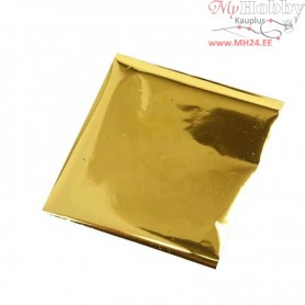 Art and Craft Foil, sheet 10x10 cm, gold, 30sheets