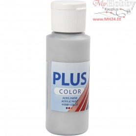 Plus Color Craft Paint, silver, 60ml