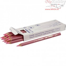 Super Ferby 1 colouring pencils, lead: 6,25 mm, L: 18 cm, light red, 12pcs