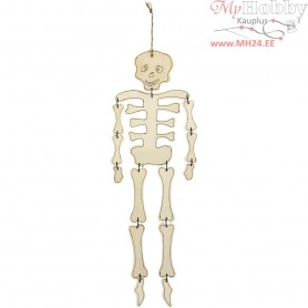 Skeleton, H: 35 cm, thickness 3 mm, plywood, 1pc