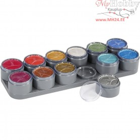 Water-based Face Paint Palette, mother of pearl colours, 12x15ml