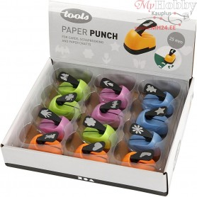 Paper Punches, size 25 mm, everyday motives, 12mixed