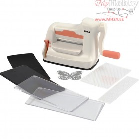 Starter kit - Die Cut and Embossing Machine, A7 7,4x10,5 cm, sheet max 7.5 cm width, 1set