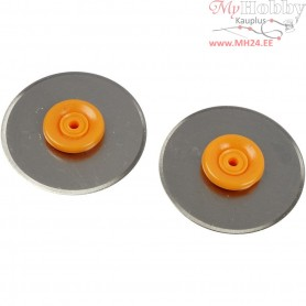 Rotary Blades for Fiskars Rotary Paper Trimmer, D: 28 mm, Straight, 2pcs