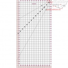 Quilting ruler,  15x30 cm, 1pc