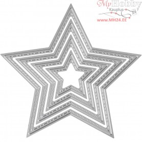 Die Cut, size 4,5-12 cm, star, 1pc