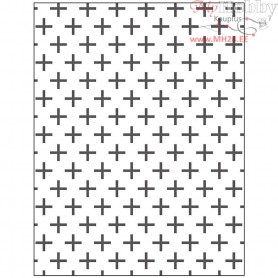 Embossing Folder, size 11x14 cm, thickness 2 mm, cross, 1pc