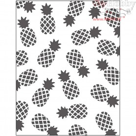 Embossing Folder, size 11x14 cm, thickness 2 mm, pineapple, 1pc