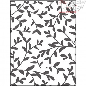 Embossing Folder, size 11x14 cm, thickness 2 mm, sprouts, 1pc