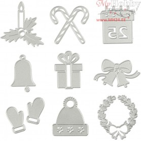 Die Cut and Embossing Folder, D: 17,5x17,2 cm, christmas motifs, 1pc