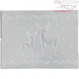 Embossing Folder, D: 11x14 cm, thickness 2 mm, reindeer, 1pc