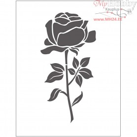 Embossing Folder, size 11x14 cm, thickness 2 mm, rose, 1pc