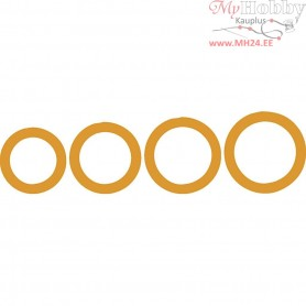Shape Template, D: 11,4-20,3 cm, circles, 4mixed