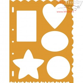Shape Template , sheet 21x28 cm, Shapes, 1pc