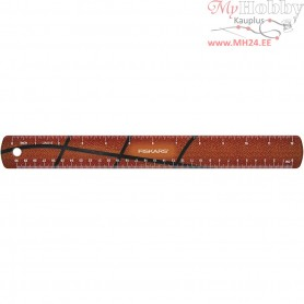 Ruler, L: 30 cm, W: 3,5 cm, basketball, 1pc
