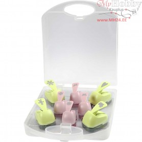 Paper Punches, size 15+23 mm, all year, 8mixed