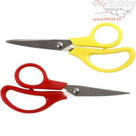 Kids Scissors, L: 12,5 cm, Pointed tip, 12mixed