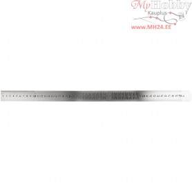 Steel ruler, L: 50 cm, 1pc