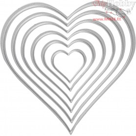 Die Cut, size 3-11,5 cm, heart, 1pc